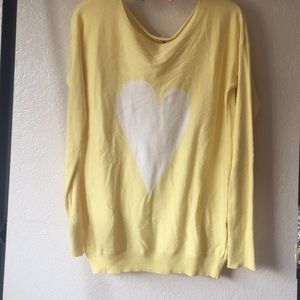 Yellow heart sweater